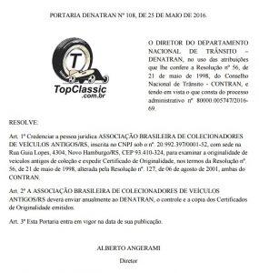Credenciamento Portaria 108_2016